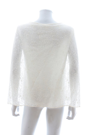 Maje 'Ade' Lace and Crepe Cape Top