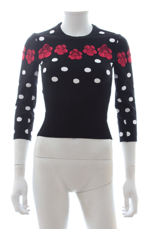 Alaïa Orchid Dot Knit Top - Runway Collection