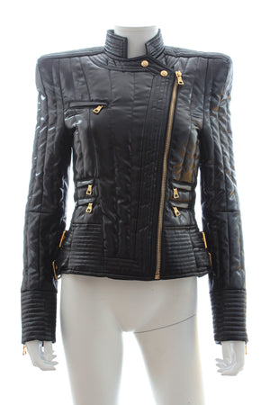 Balmain Down-Filled Biker Jacket