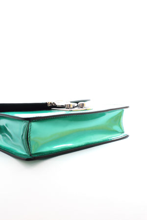 Miu Miu 'Miu' Confidential Metallic Leather Shoulder Bag