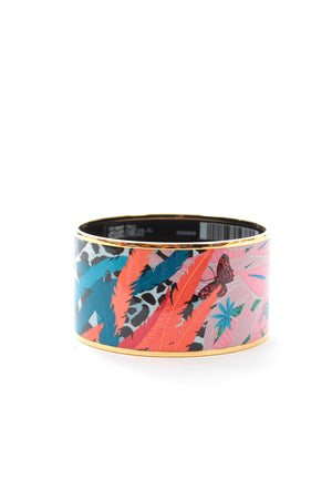 Hermes Jaguar Quetzal XL Quadrichromie Enamel Bangle