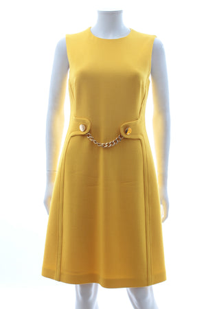 Michael Kors Collection Chain-Detailed Wool Dress