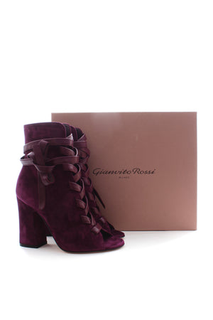 Gianvito Rossi Fraser Suede Lace Up Boots