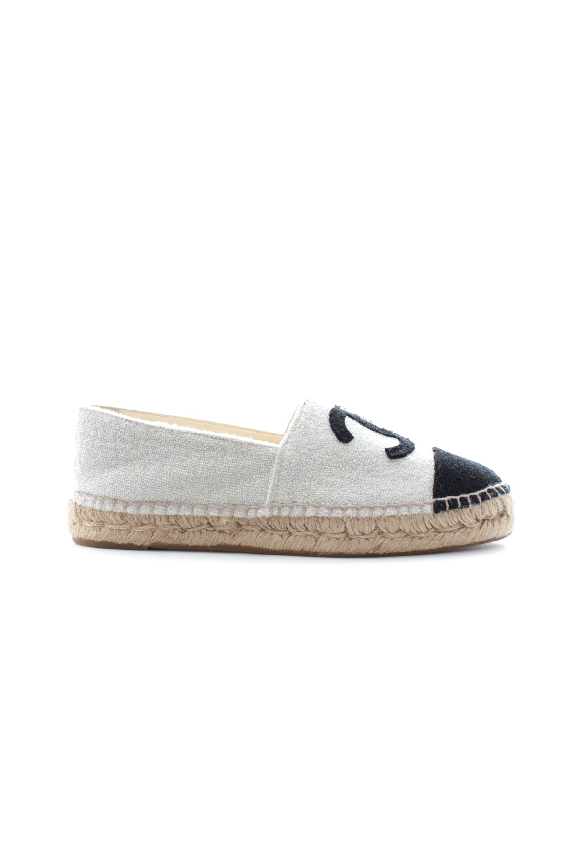 Chanel Two-Tone Glitter Terry-Cloth Espadrilles