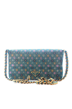 Prada Floral Brocade Chain Bag