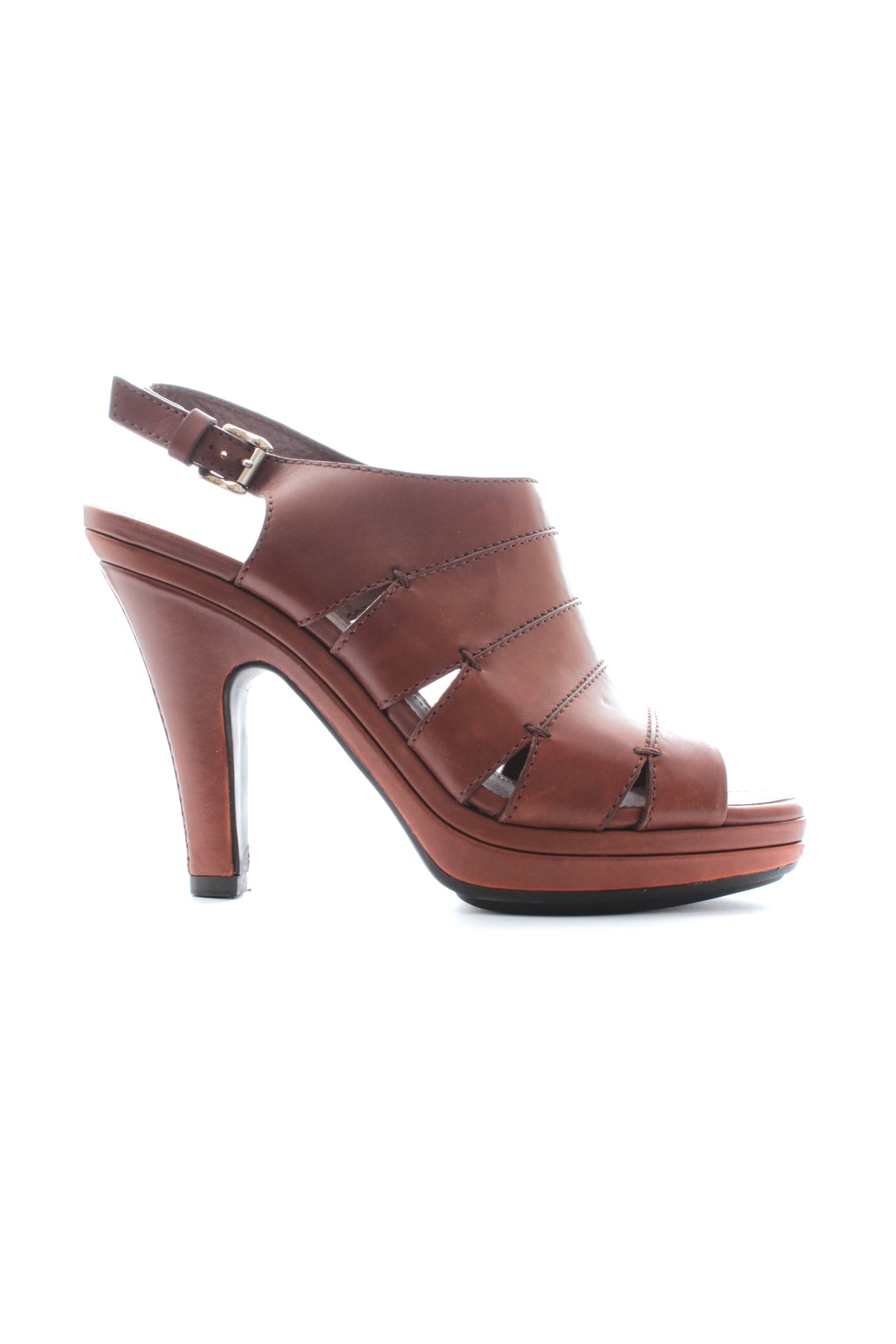 Tod's Multi Strap Platform Leather Sandals