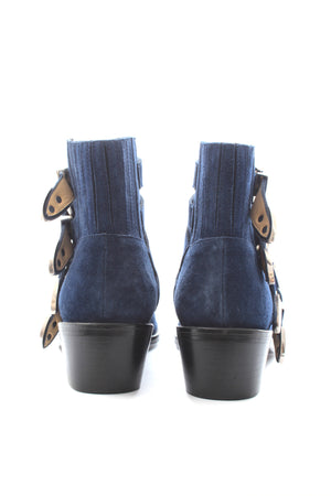 Toga Pulla Suede Buckled Ankle Boots