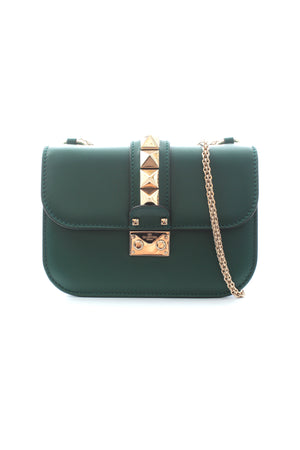 Valentino Garavani Lock Leather Shoulder Bag