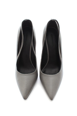 Alexander Wang Embossed Leather Pointed Toe Pumps
