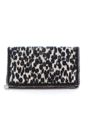 Stella McCartney Falabella Animal-Print Fold-Over Clutch