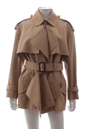 Burberry Deconstructed Cotton Gabardine Trench Coat