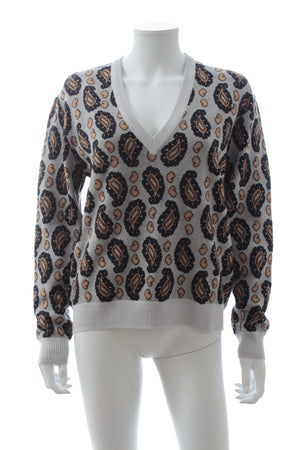 Joseph Paisley Jacquard Wool-Blend Sweater