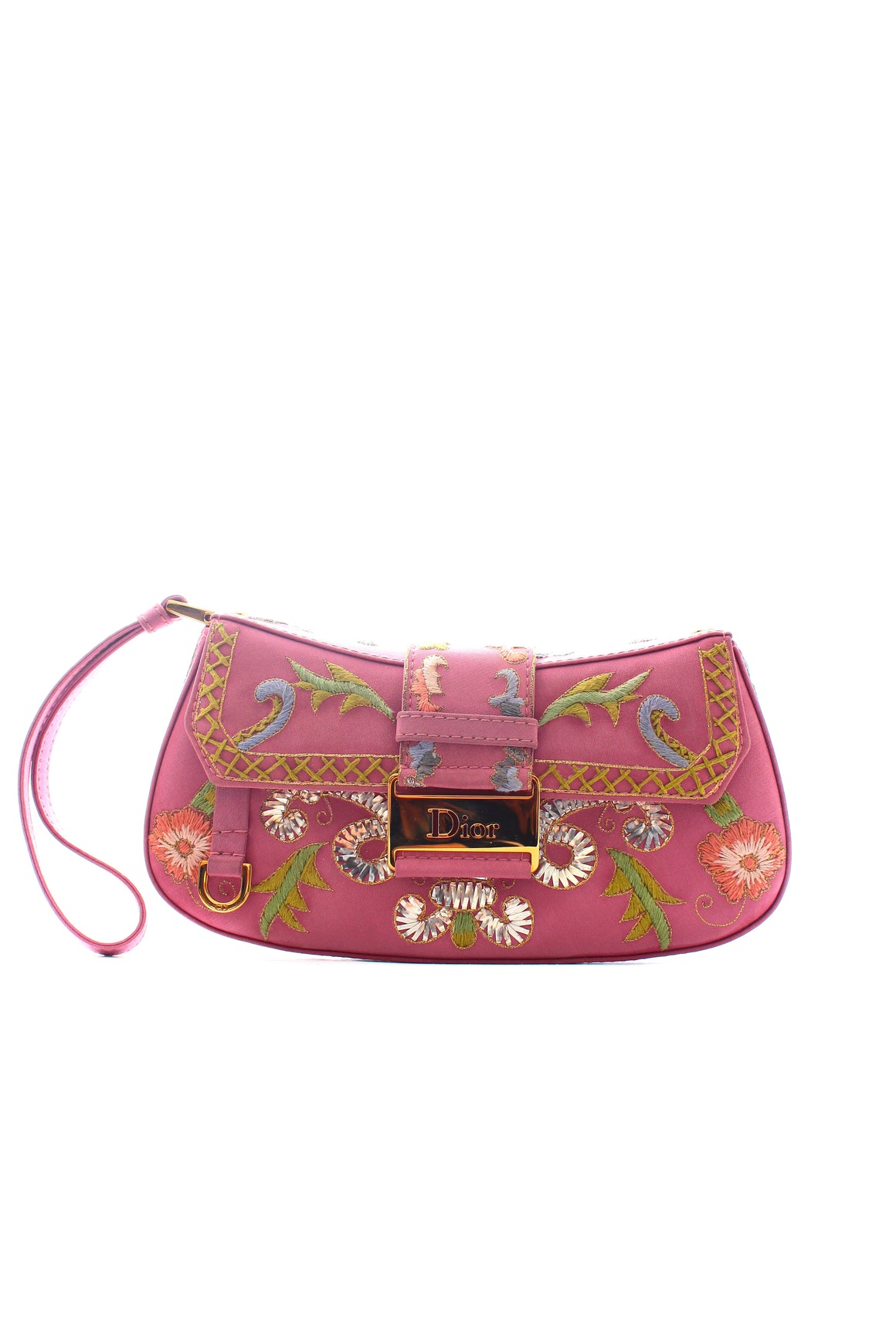 Dior Limited Edition Columbus Embroidered Wristlet Clutch