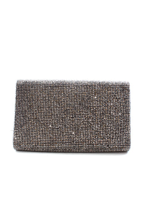 Judith Leiber Couture Crystal-Embellished Snake Clutch with Chain