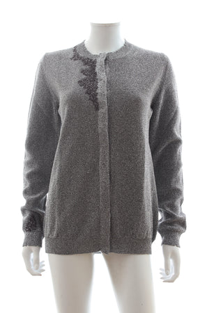 Bottega Veneta Embroidered Metallic Cardigan