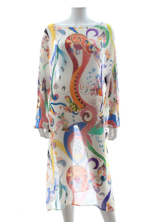 Etro Silk Printed Kaftan Dress