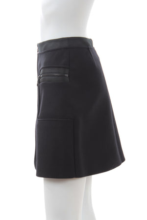 Kenzo Zip-Detailed A-Line Mini Skirt