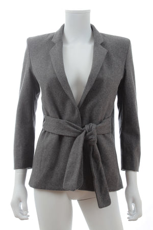 Acne Studios Belted Wool-Blend Blazer