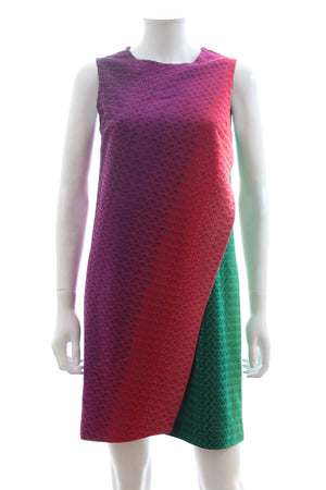 Missoni Sleeveless Rainbow Knit Dress