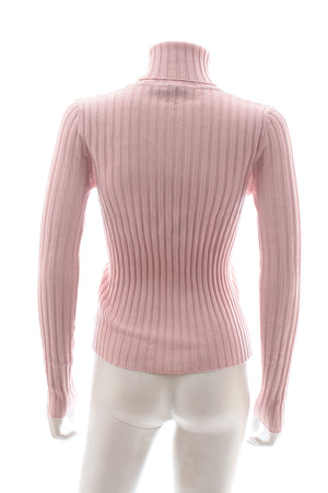 Emilio Pucci Logo Ribbed Knit Turtleneck Sweater