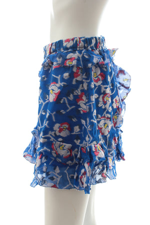 Isabel Marant Silk-Blend Floral Printed Mini Skirt