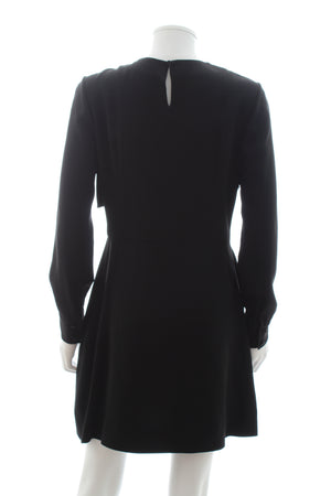 Saint Laurent Drape-Detailed Crepe Dress