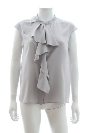 Prada Ruffled Silk Blouse