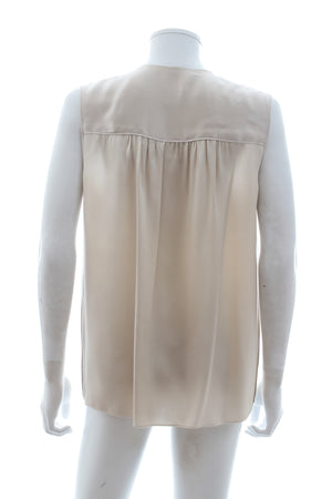 Dolce & Gabbana Sleeveless Silk Ruffled Blouse