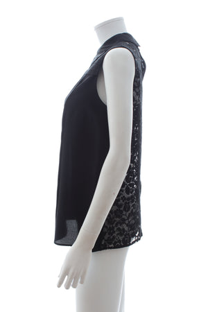 Miu Miu Lace-Back Silk Blouse