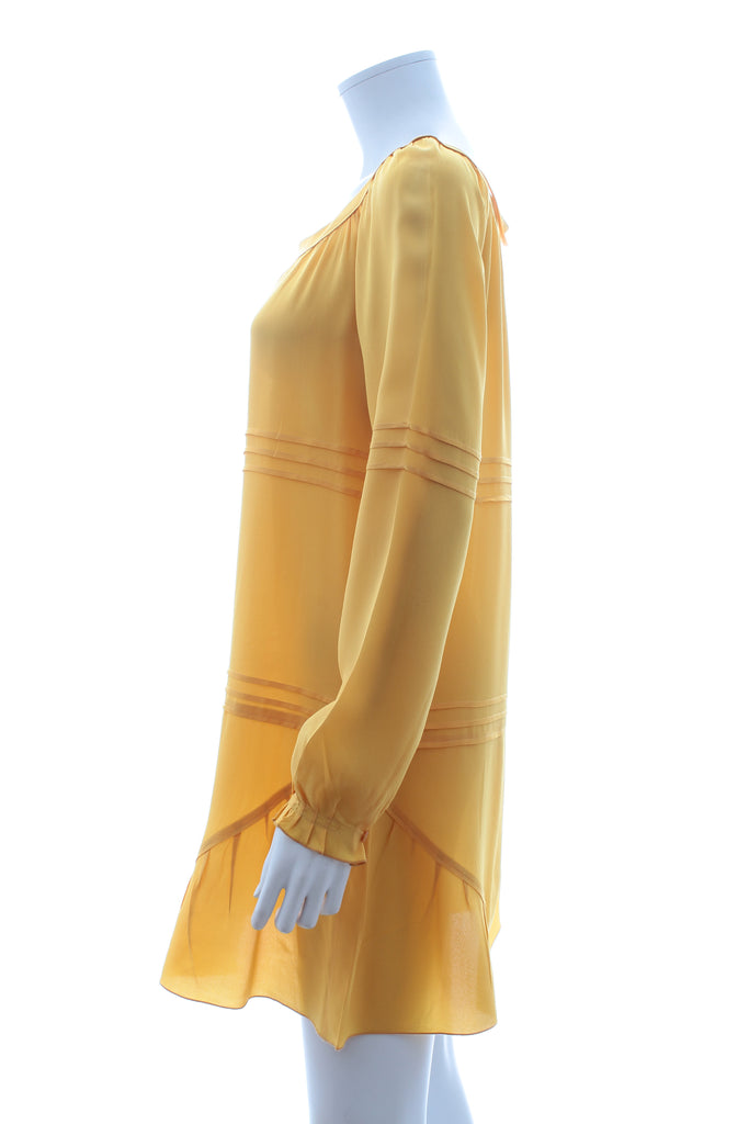 Miu Miu Silk Pleated-Detail Dress