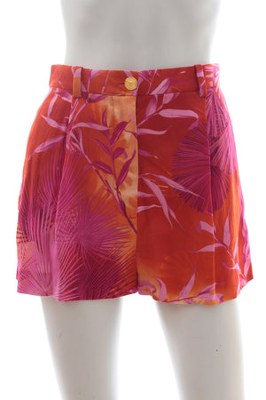 Versace Jungle-Print Crepe Shorts