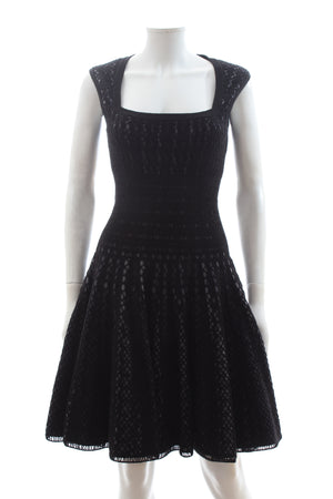 Alaïa Wool-Blend Knit Dress and Cardigan