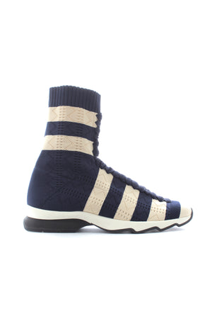 Fendi Stretch-Knit Sock High-Top Sneakers