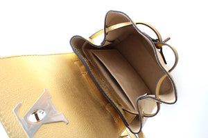 Louis Vuitton Lockme Metallic Leather Backpack