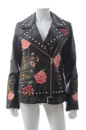LPA 'Jacket 58' Embroidered Leather Jacket