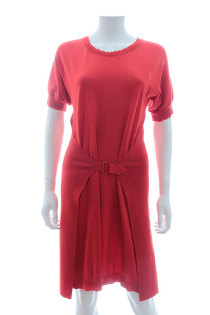 Yves Saint Laurent Belted Wool Dress