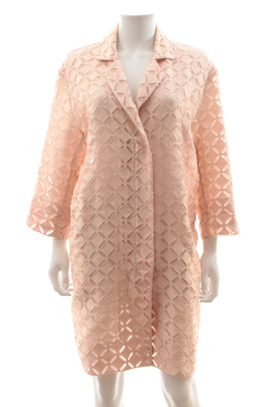 Roland Mouret 'Paddington' Broderie Anglaise Cotton-Blend Coat