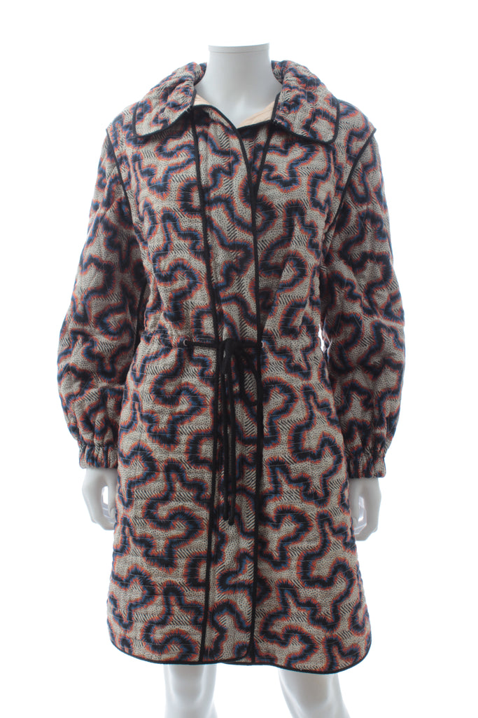 Isabel Marant Printed Quilted Cotton Coat