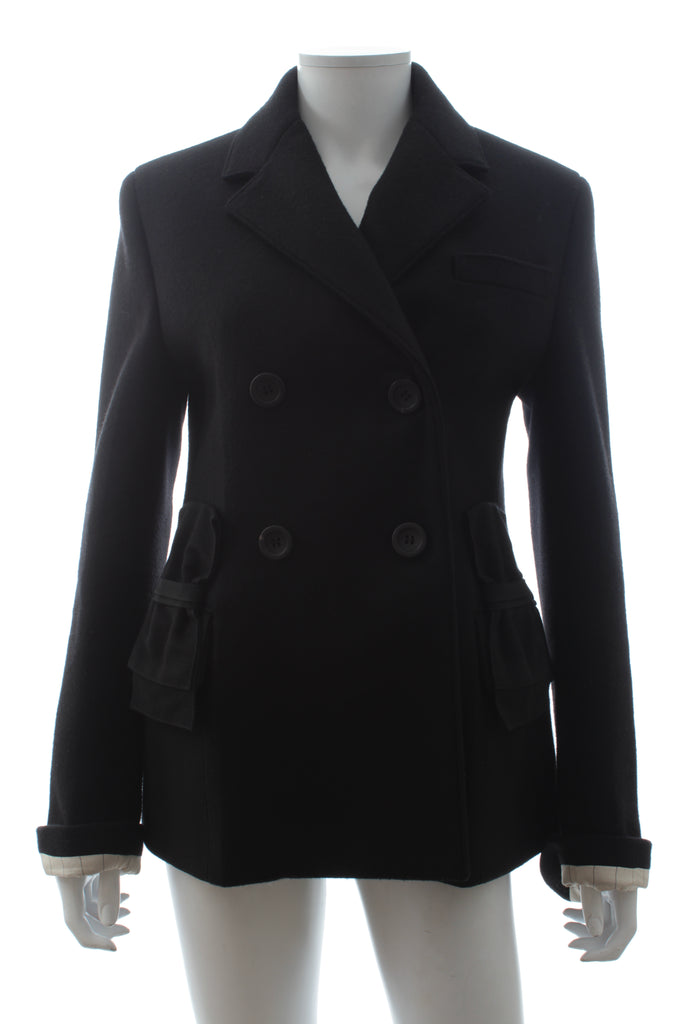 Prada Virgin Wool Bow-Detail Coat