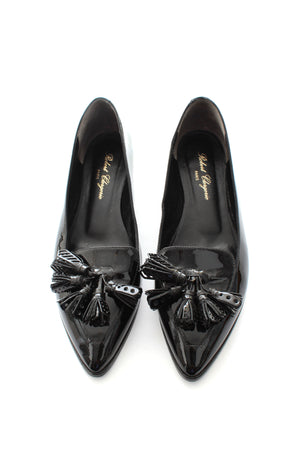 Robert Clergerie Patent Leather Tassel-Detailed Pumps