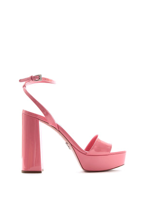 Prada Patent Leather Platform Sandals - Current Collection