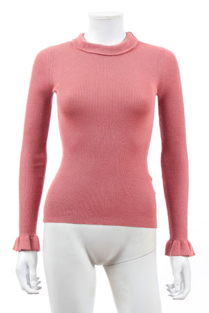 RED Valentino Ribbed Cashmere and Silk-Blend Sweater