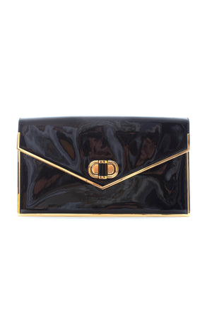 Alexander McQueen Patent Leather Envelope Clutch Bag