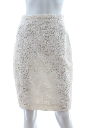 Giambattista Valli Floral Lace Skirt