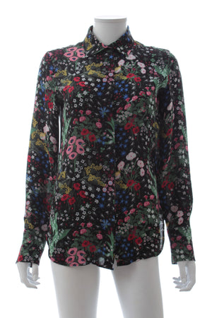 Valentino 'Camugarden' Silk Georgette Printed Shirt, Tops & Shirts, Valentino, Closet Upgrade - Closet-Upgrade