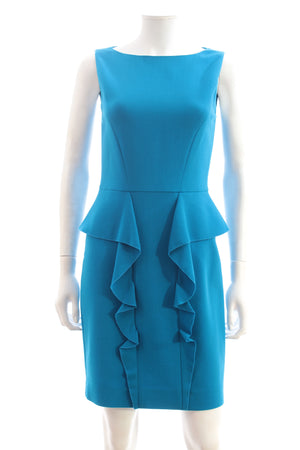 Emilio Pucci Ruffle Detail Wool-Stretch Dress