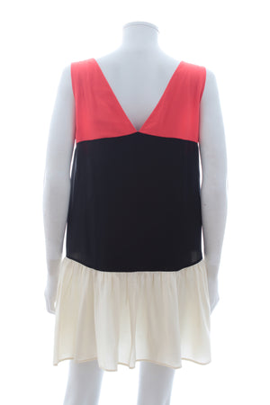 Miu Miu Colour-Block Silk Dress