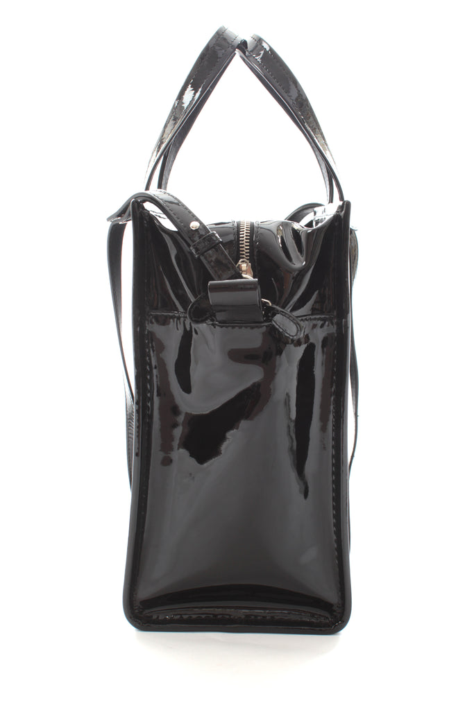 Balenciaga Bazar Patent Leather Cross-Body Tote Bag (2017)
