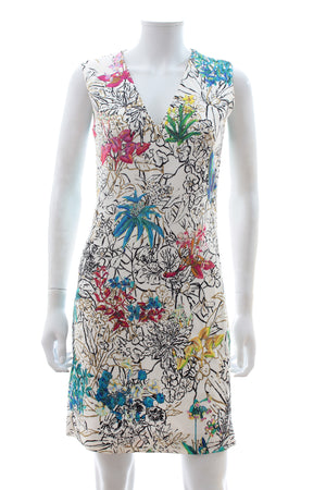 Peter Pilotto Sleeveless Floral Print Mini Dress