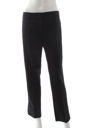 Prada Wool Crepe Ankle Colour Contrast Trousers (Spring '17 Collection)